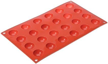 Lacor - 66800 - Molde Semiesferico 24 Cavidades Silicona - Rojo