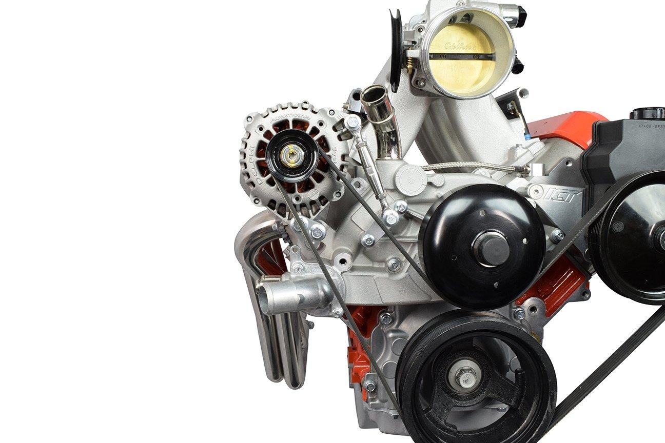 LS Billet Alternator Bracket Kit with Turnbuckle Tensioner LSX Truck 551399-3 ICT Billet