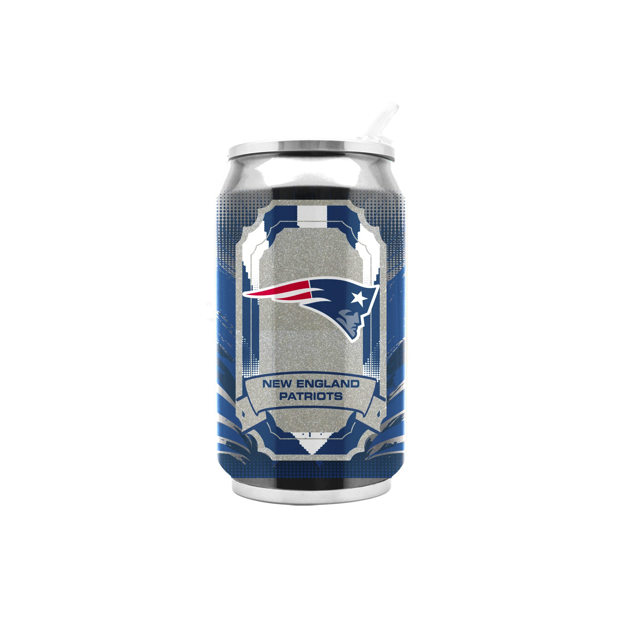 NFL New England Patriots 16oz Double Wall Stainless Steel Thermocan by Duck House