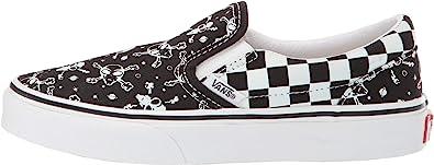 black and white slip on vans kids