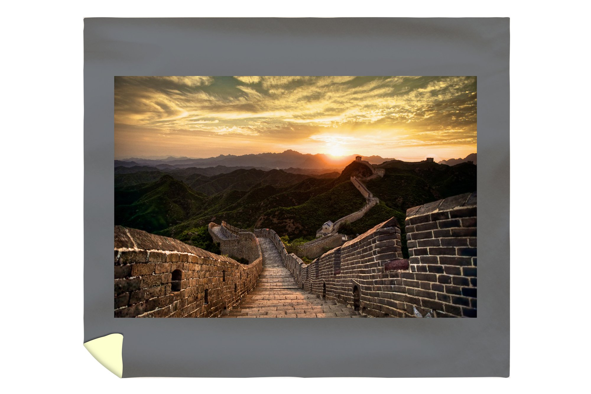 Great Wall of China - Sunset (88x104 King Microfiber Duvet Cover)