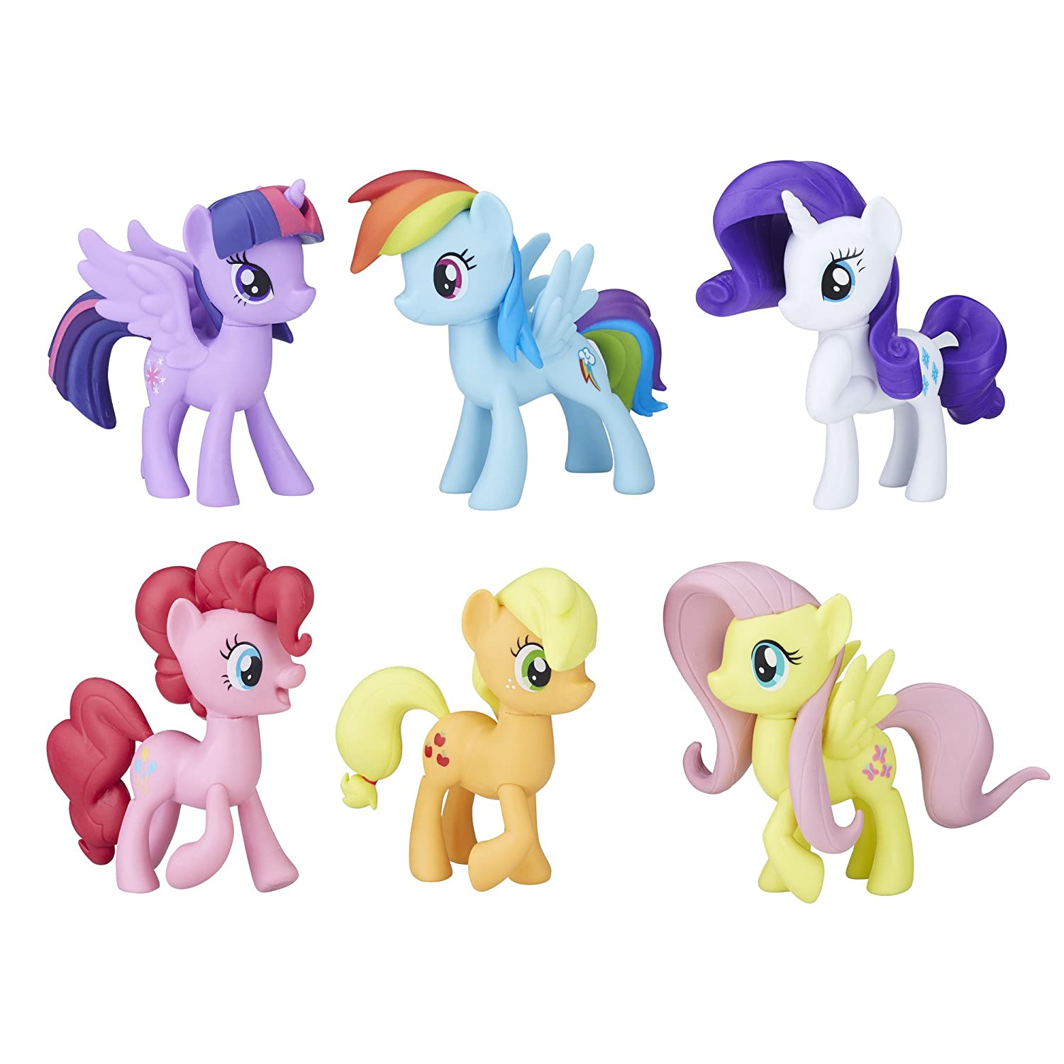 Amazoncom My Little Pony Meet The Mane 6 Ponies Collection Toys