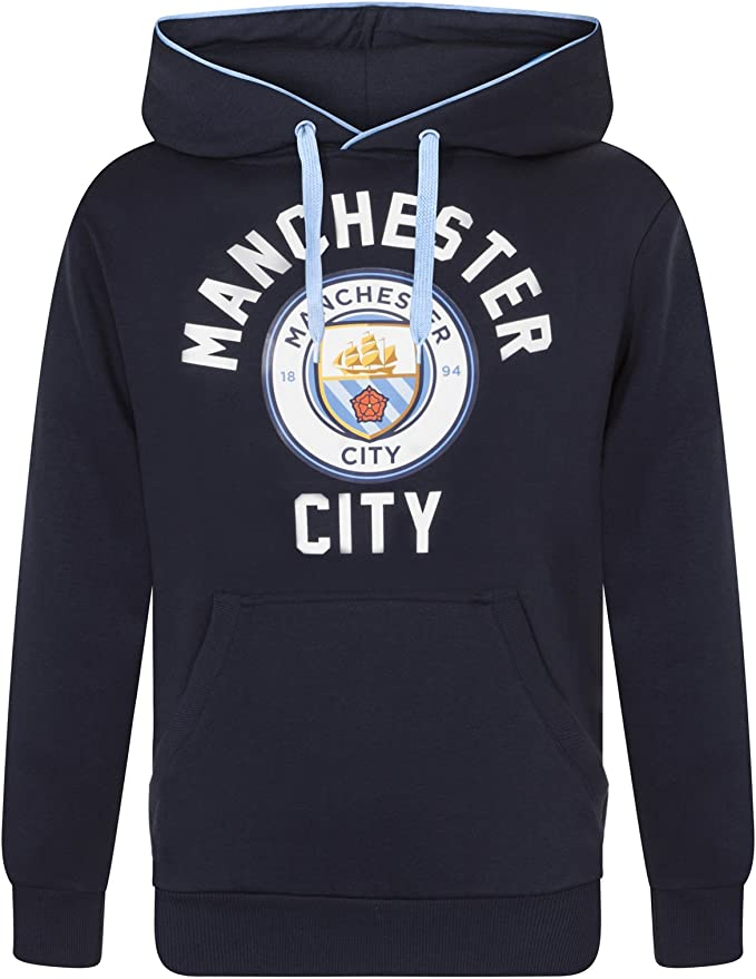 Manchester City FC Official Fleece Graphic Hoody