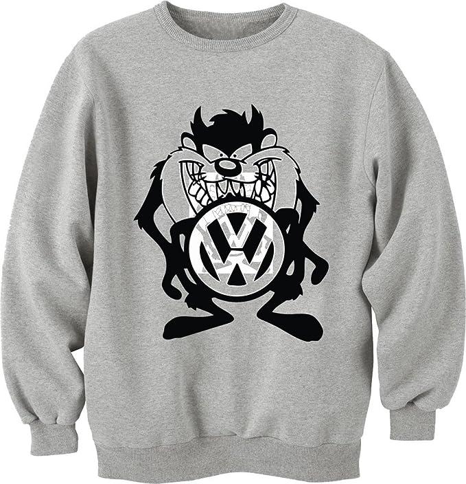Car VW Taz-camiseta Unisex Crewneck-Sudadera gris XL: Amazon.es: Ropa y accesorios