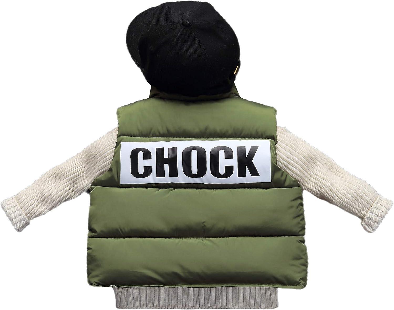 GETUBACK Boys Girls Winter Down Puffer Vest Letter Print on Back