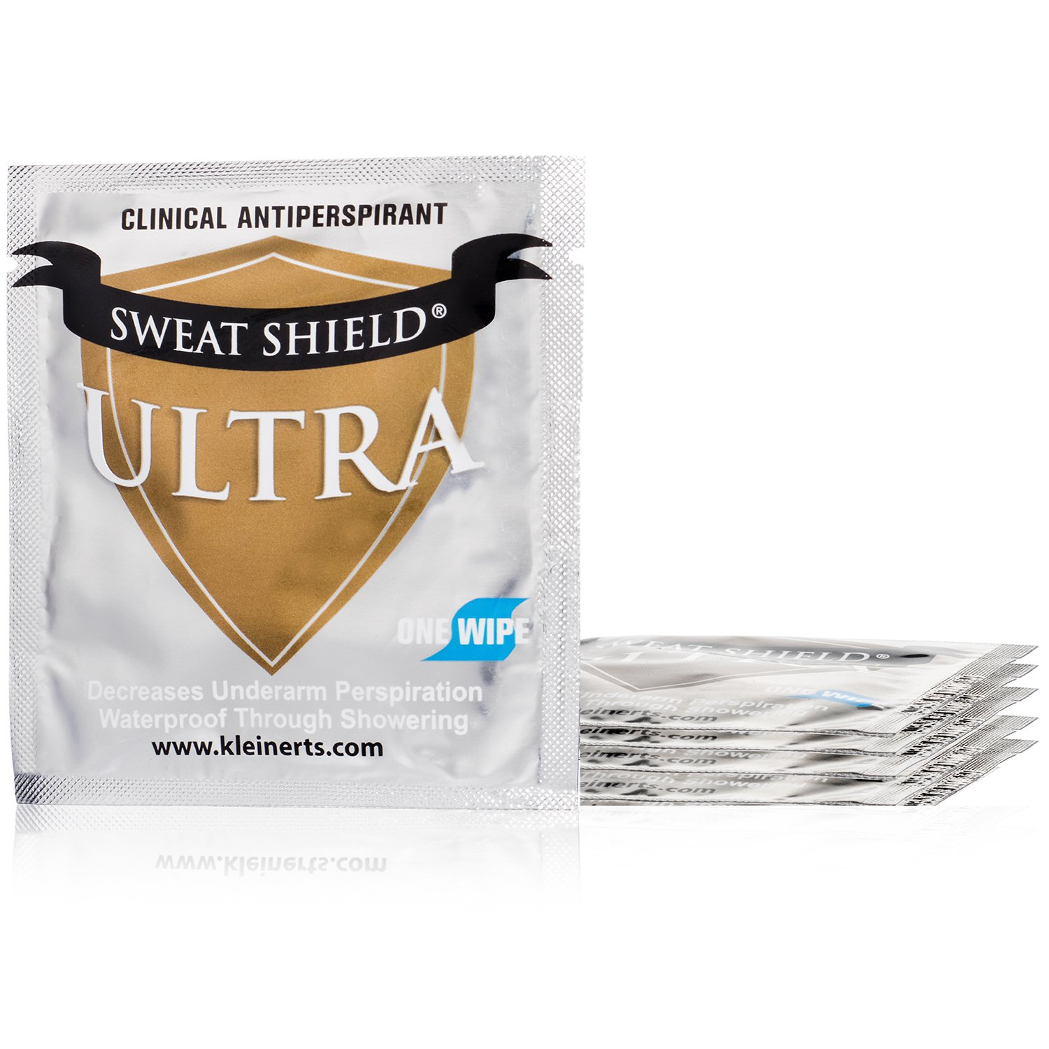 Kleinert's Maximum Strength 15% Ultra Sweat Shield Clinical Antiperspirant Wipes. Eliminate Sweat Everywhere Up To 7 Days - 5 Packets. No Irritation. Dermatologist Recommended. Ships Free by Kleinert's (Image #2)