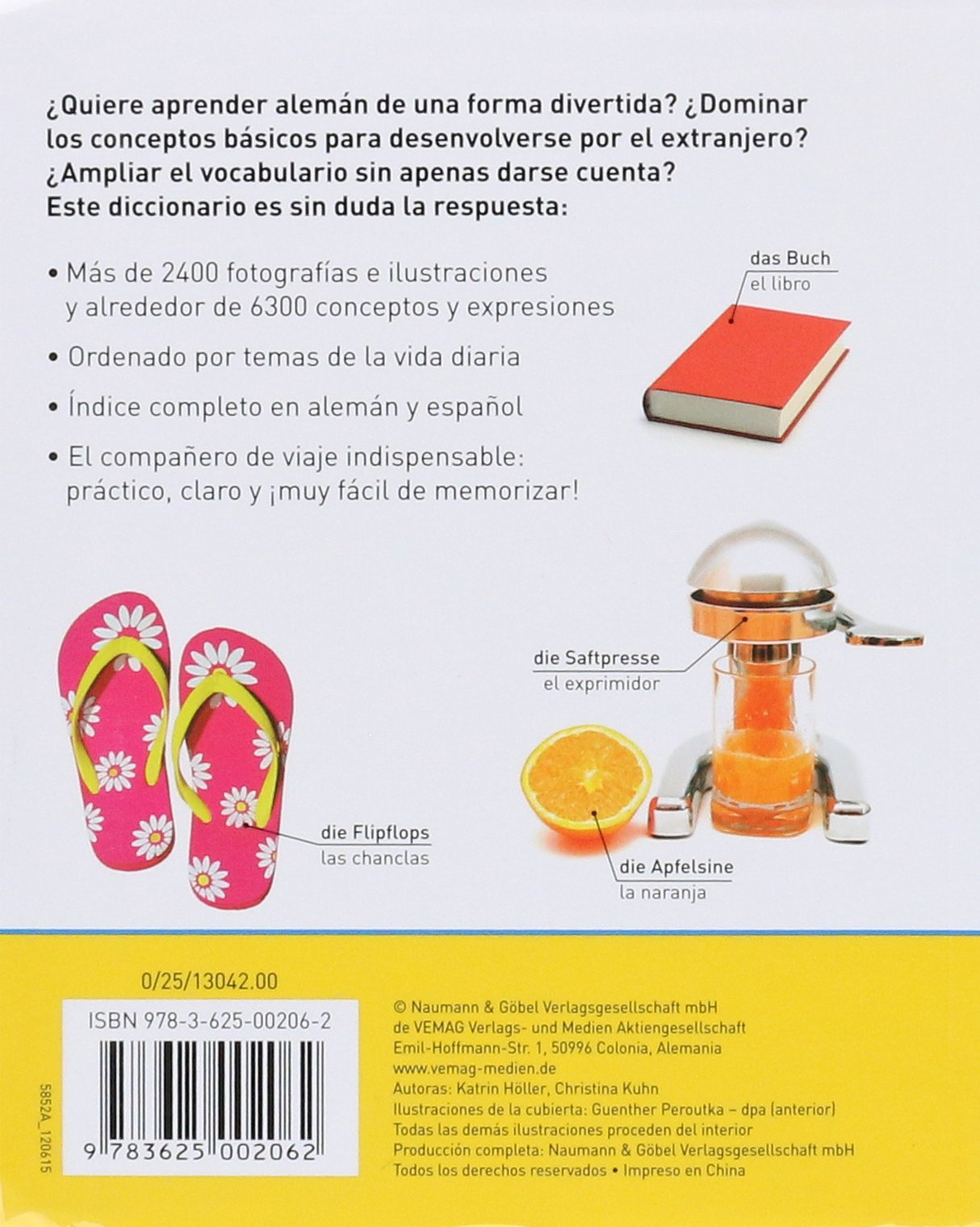 DICCIONARIO VISUAL ALEMAN-ESPA OL: HOLLER(002062): 9783625002062: Amazon.com: Books