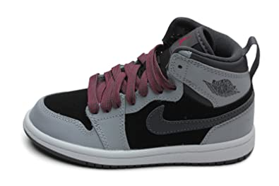 promo code 7fe72 20c05 Jordan Kids 1 Retro High GP Wolf Grey Black Dark Grey Sport Fuchsia