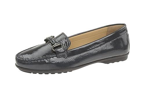 Geox D642tb 000evc4021 - Mocasines de Charol para Mujer, Color Azul, Talla 40: Amazon.es: Zapatos y complementos