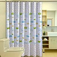 meioro Shower Curtain PEVA Shower Curtain Liner Design for Bathroom Bathtubs Showers Stall-32 x 70 Inch, Bubbles Art…