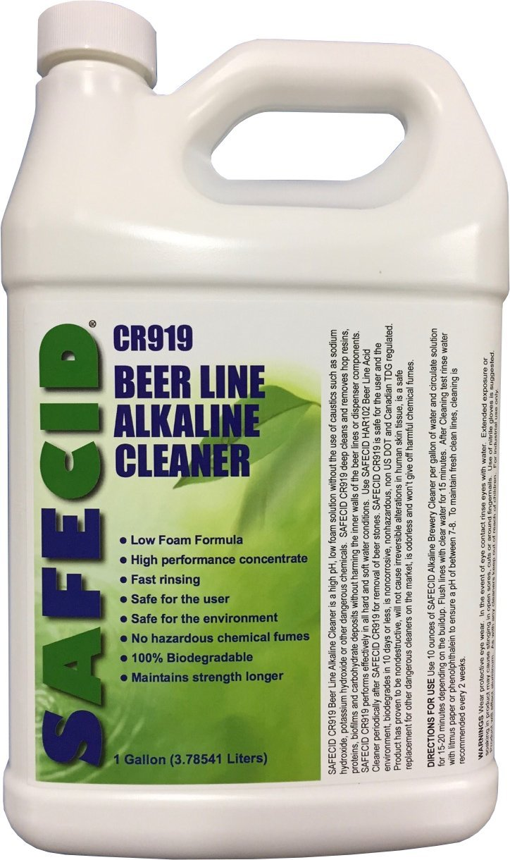 Beer Line Alkaline Cleaner Gallon by SAFECID