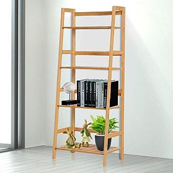 Estantería de bambú para Libros de Dder Bookca, Estante en L de Bricolaje, Soporte para Estante de Estudio, Soporte de Estante, Escalera de bambú, Soporte para Plantas: Amazon.es: Electrónica