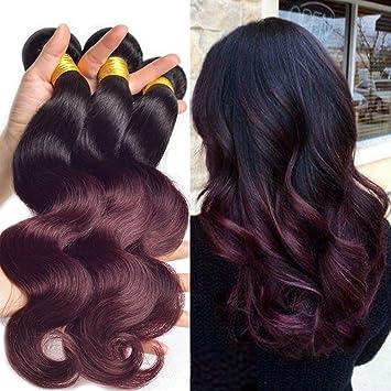 Amazon Com Black Rose Dark Root Ombre Human Hair Weaves Black To