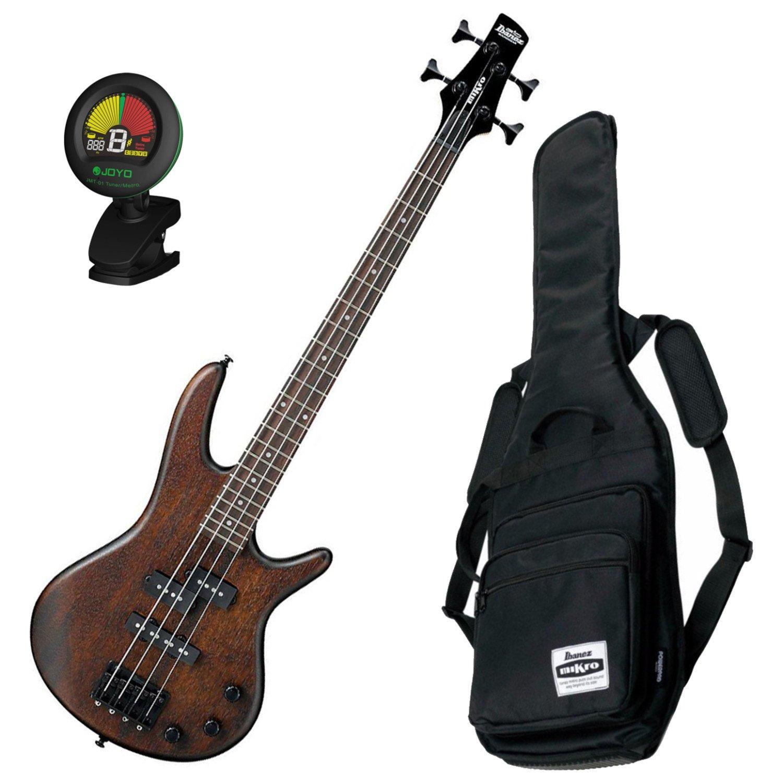 Ibanez GSRM20B WNF Mikro Walnut Flat Bass Bundle w/Gig Bag & Tuner GSRM20BWNF BUNDLE
