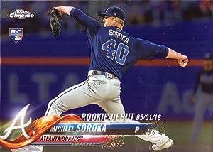 2018 Topps Update Chrome Baseball #HMT35 Michael (Mike) Soroka Rookie Debut Card