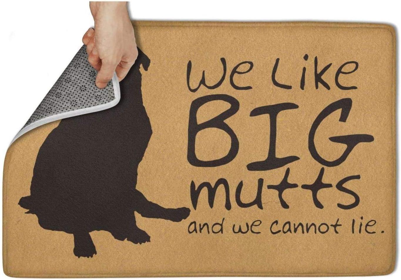 UIIE We Like Big Mutts We Cannot Lie ShowerDoor Mats Decor Rectangular 15.55 x 23.5