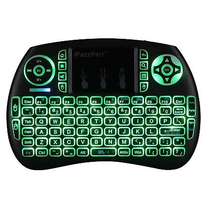 Amazon com: FIESAND Backlit Wireless Mini Keyboard USB