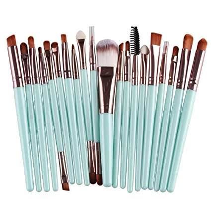 Image result for 20 pcs Makeup Brushes Synthetic Make Up Brush Set Tools
