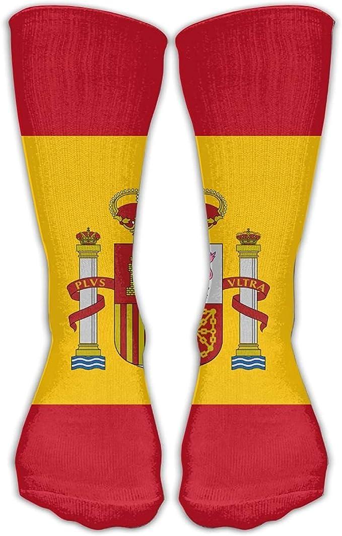 Nifdhkw Calcetines de moda con la bandera de España para adultos ...