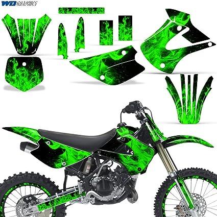 Amazoncom Kawasaki Kx85 Kx100 2001 2013 Graphic Kit Dirt Bike Mx