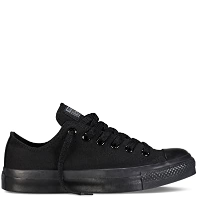 6c9d33f919fc Converse Unisex Chuck Taylor All Star Ox Low Top Classic Black Monochrome  Sneakers - 8 B