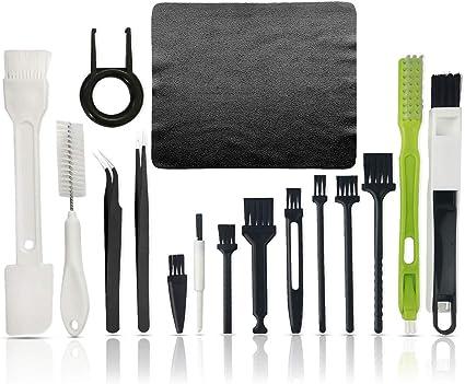 Cepillo de limpieza de teclado,Kit de limpieza de PC,Cepillo antiestático de plástico para ordenador portátil, teclado y PC Kit de limpieza de equipo ...