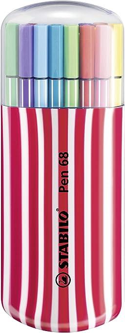 Premium Filzstift Stabilo Pen 68 20er Zebrui In Beere Mit 20 Verschiedenen Farben Bürobedarf Schreibwaren