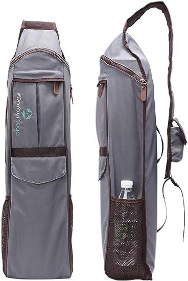 Schwarz /& Gelb /& Blau /& Rosenrot Atmungsaktiver Yoga-Rucksack Yogamattentasche Wasserdichter Rucksack Nylon Pilates Tr/äger Verstellbarer Riemen Sport Tool