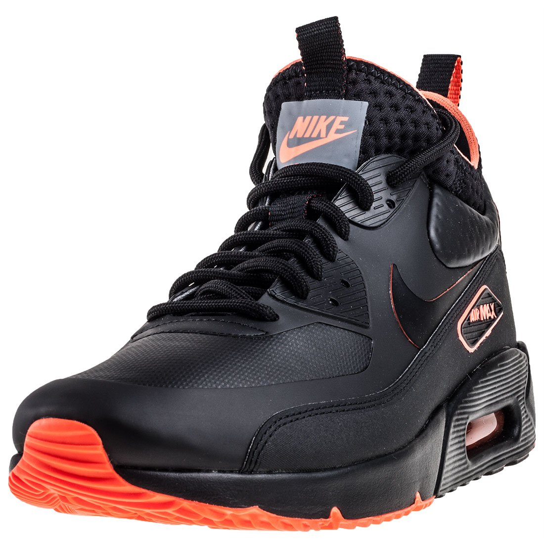 Nike Herren Air Max 90 Ultra Mid Winter SE Schwarz Leder/Synthetik Sneaker  40 EU|Schwarz (Black/Anthracite)