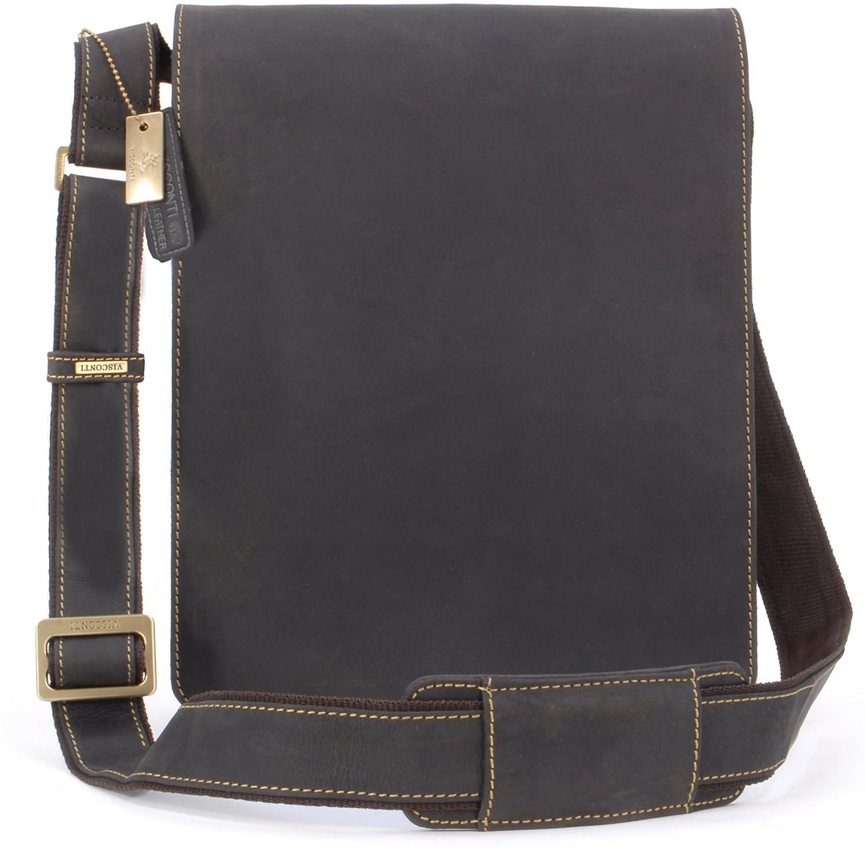 Visconti Grand sac Besace en cuir marron signé (18410) 5060274974693
