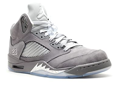 7f78c20645b Amazon.com | Air Jordan V (5) Retro (Light Graphite / White-Wolf ...