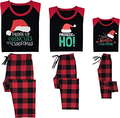 Family Christmas Pajamas Matching Set Holiday Pjs For Women Men Kids Couples Printed Long Sleeve Tee Pants Loungewear At Amazon Women S Clothing Store
