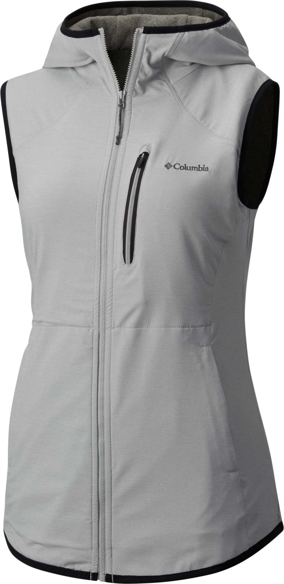 Columbia Women's Trail Blaze Hooded Vest (Columbia Grey, L)