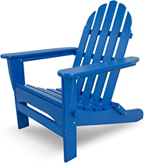 """product image for POLYWOOD AD5030PB Classic Folding Adirondack Chair, 35.00"""" x 29"""" x 35.00"""", Pacific Blue"""