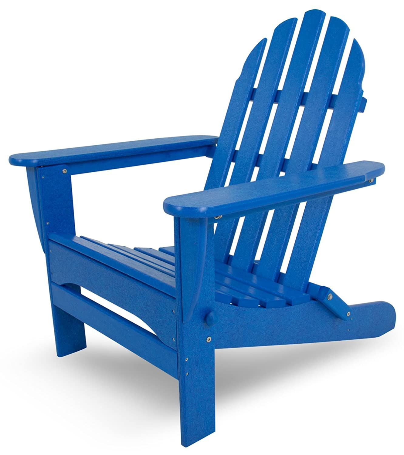 Amazon.com : POLYWOOD AD5030PB Classic Folding Adirondack, Pacific Blue : Adirondack  Chairs : Garden U0026 Outdoor
