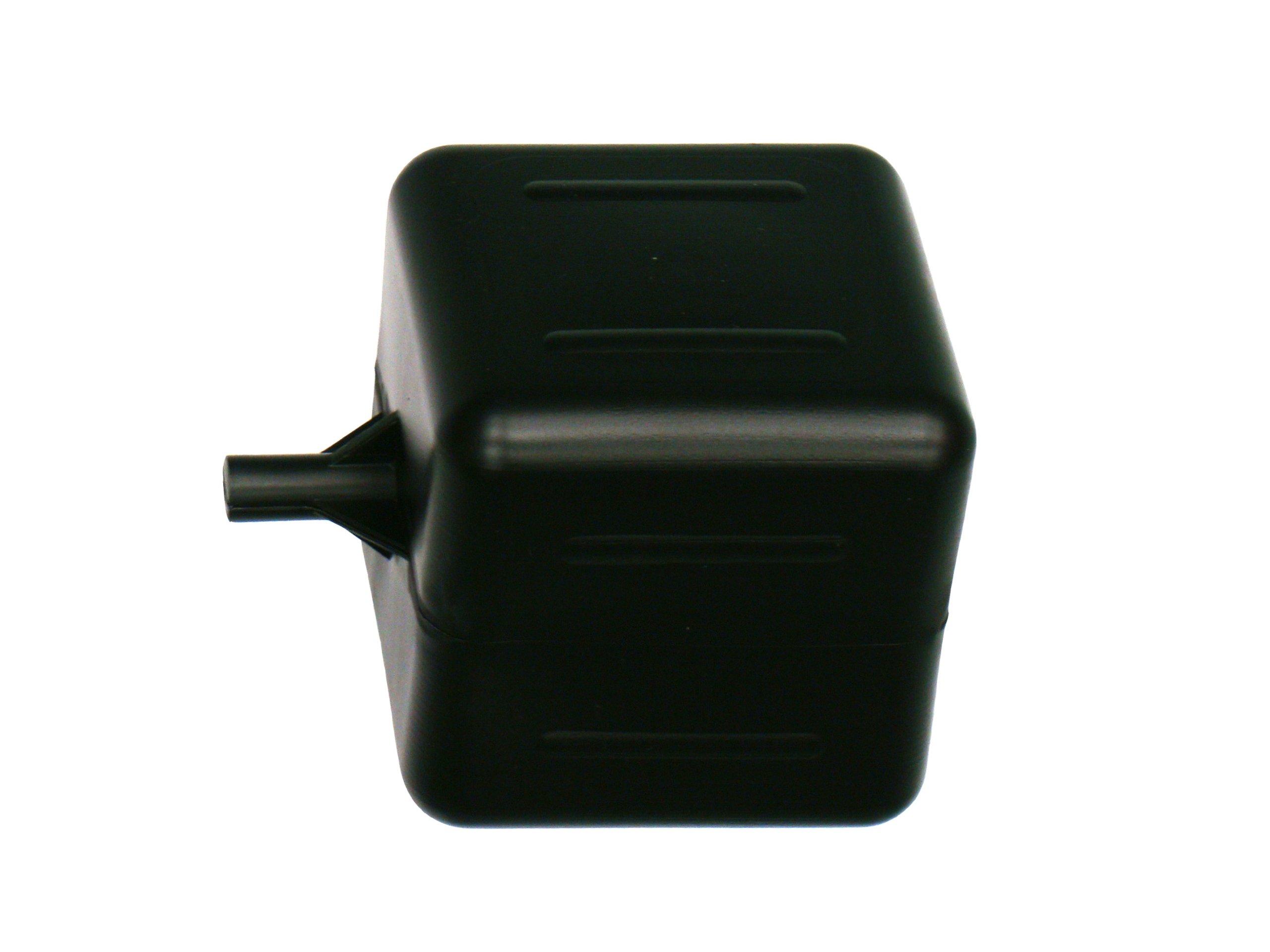 Kerick Valve PF444-BK Polyethylene Square Float Ball, 4'' Width, 4'' Height, 4'' Length, 1/4'' Female Thread