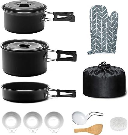 Keymao Utensilios Cocina Camping,Camping Kit de Portátil y ...