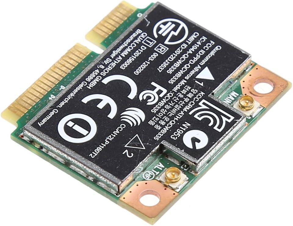 Yintiod Tarjeta WLAN para H-P QCWB335 AR9565 SPS 733476-001 Bluetooth 4.0, WiFi, inal/ámbrica, Mini Tarjeta PCIE