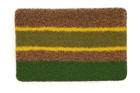 Skipper Anti Slip Striped PVC Door Mat   24 quot;x16 quot;x0.5 quot;, Multicolour