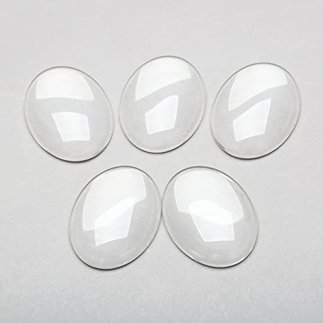 Oval Domes FREE SHIPPING Clear Oval  Domed Glass Cabochons