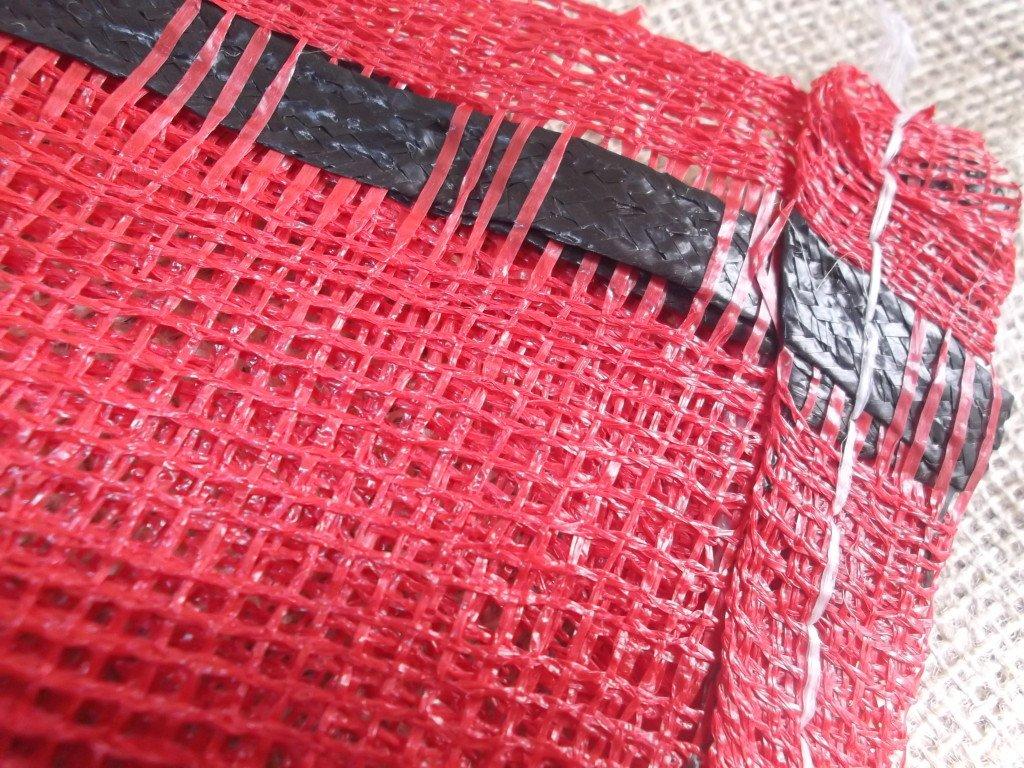 Yuzet 200x 52cm x 85cm Rot Schließen Weave Net Sack Anzünder Log Gemüse Tasche