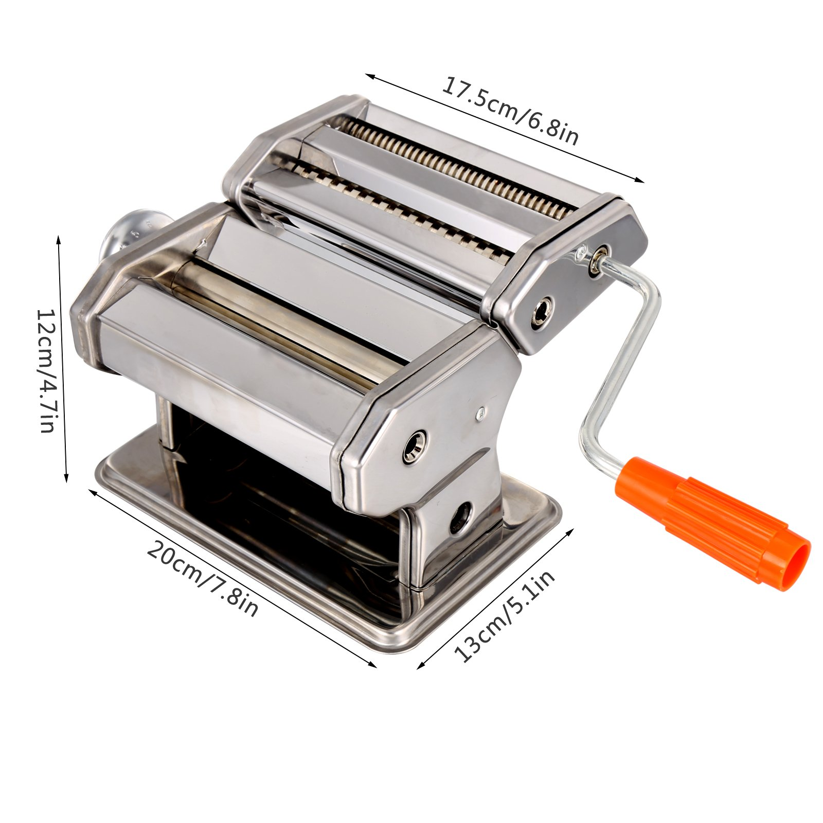 Pasta Maker Machine, Stainless Steel roller and cutter for Spaghetti , Fettuccine and Noodle , include 2 Blades (TYPE B) by Jaketen (Image #2)