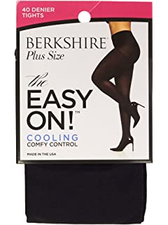 d59daa783 Berkshire Women's Plus-size The Easy On! 40 Denier Cooling Microfiber Tights