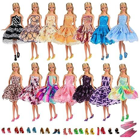 Villavivi Abiti Vestiti Ed Accessori Per La Festa Per Barbie Dolls Bambola  Per Regalo 2018 Stili ... 0a3c7fe801c