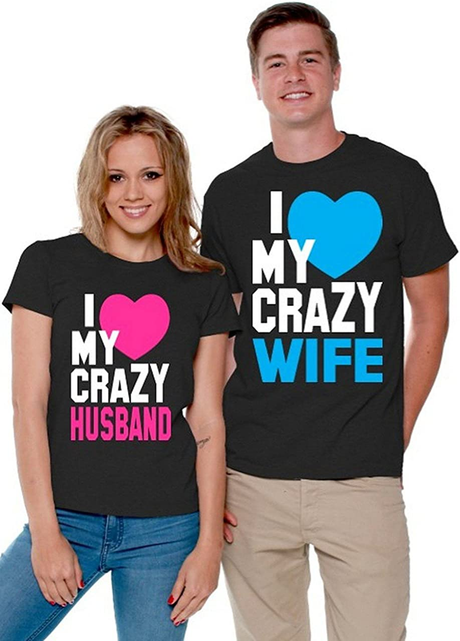 Husband Couples Matching Tank Tops Shop4Ever I Love My Crazy Wife