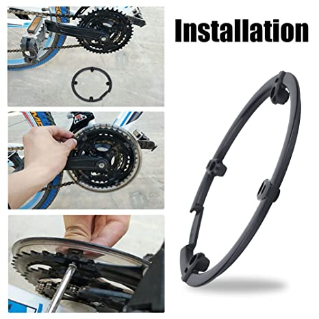 Delaman Bike Chain Guard Bicycle Chainring Ring Protector Chain-wheel Protective Cover Chainguard
