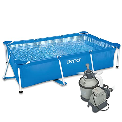 Intex 300 x 200 x 75 cm Frame Pool Set Family con Intex Arena Filtración algas 2827244: Amazon.es: Jardín