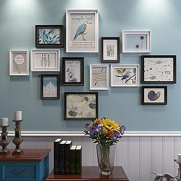 Amazoncom Zyanz 13 Photo Frame Wall Gallery Kit Includes Gallery