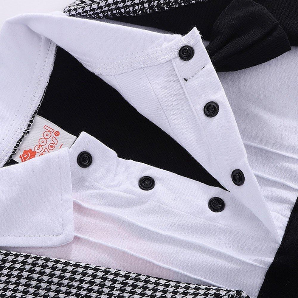 G-Kids Baby Jungen Strampler Smoking Gentleman Anzug Langarm Herbst Fr/ühling Outfits Kleidung Jumpsuit Spielanzug Taufkleidung mit Fliege