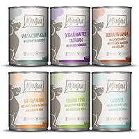 MjAMjAM - Pienso acuoso para Perros - Mix Pack II 1* Pollo & Pato, 1* Ternera, 1* Pavo y arroz, 1* Ternera con calabacín…